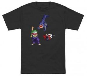Joker And Harley Quinn With Batman Pinata T-Shirt