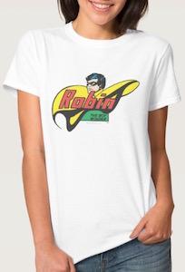 Robin the boy wonder logo t shirt for Wonder boy t shirt