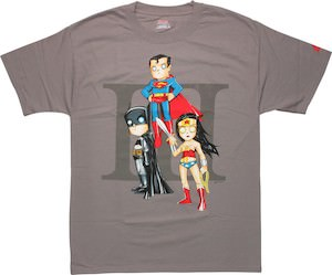 Batman wonder woman and superman on one t shirt great for Make your own superman shirt